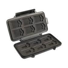 Pelican 0915 Memory card case is a unique product that lets you store all memory cards under one unit. It is made out of tough polycarbonate resin with an insert liner that is shockproof. Moreover, its water resistant seal makes it waterproof & saves micro cards