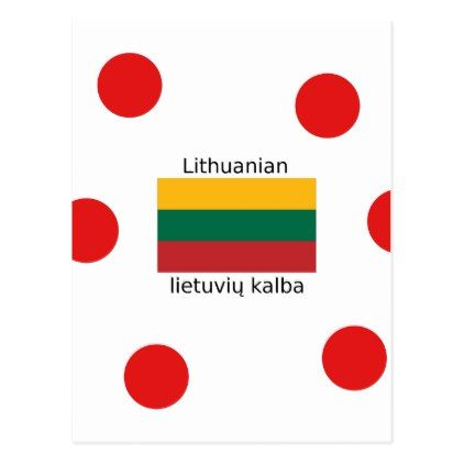 Lithuania Flag And Lithuanian Language Design Postcard - postcard post card postcards unique diy cyo customize personalize
