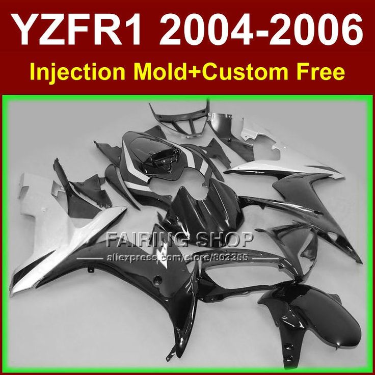 395.60$  Watch now - http://alinf0.worldwells.pw/go.php?t=32364296460 - Custom paint Injection fairings kits for YAMAHA R1 2004 2005 2006 YZF R1 04 05 06 YZF1000 black silver motorcycle fairing parts