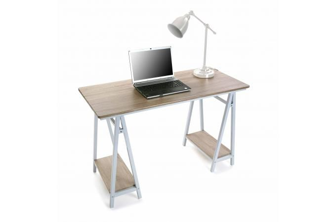 Bureau bois et blanc bureau blanc et bois pieds trteau ruvine