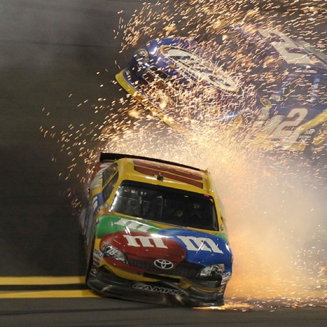 Kyle Busch - and he didn't crash!