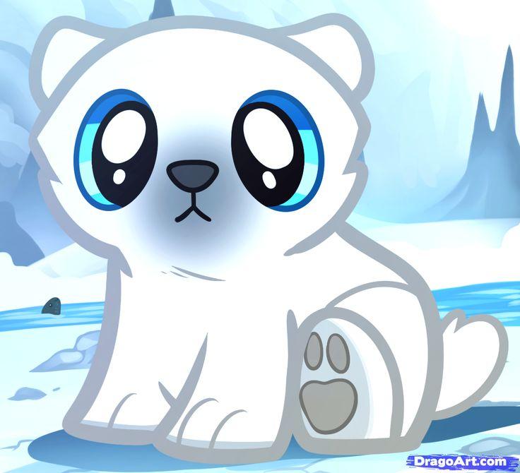 Cute Polar Bear Drawing | how to draw bears , draw polar bears , draw baby animals