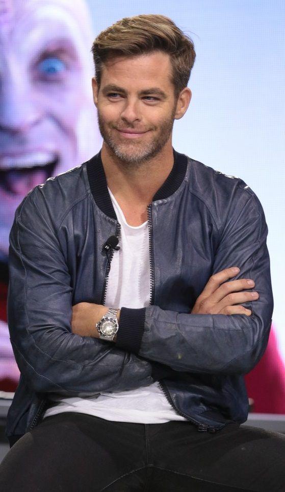 Smiling Chris Pine