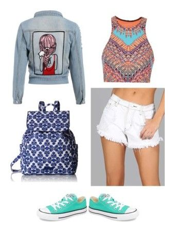 """Summer Travelling"" by christie-devina on Polyvore featuring Mara Hoffman, Vera Bradley and Converse"
