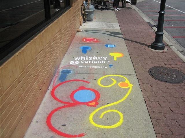 Street and Sidewalk Chalk Advertising