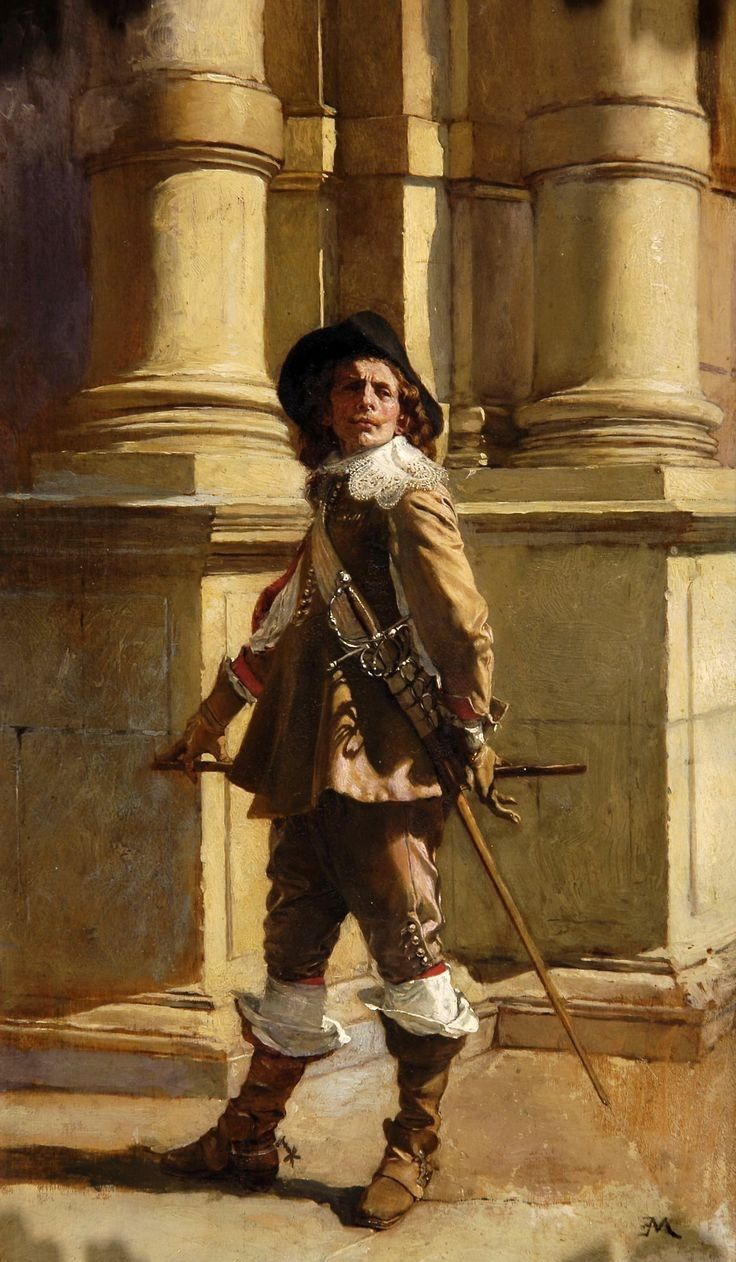 "viktor-sbor:  ""  Jean Louis Ernest Meissonier (1815-1891) - Years War, Thirty Years, French Guard  """