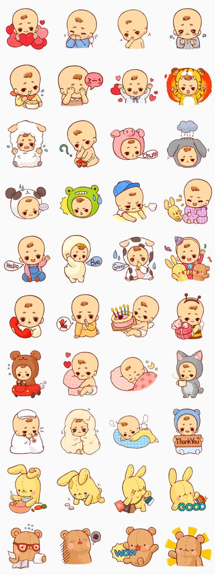 It's a BABY~!! Awww! This has to be one of the cutest in our Sticker Shop! Make it hard for your friends to say 'No' with these stickers!