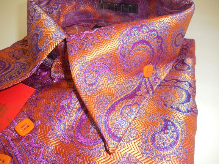 Mens Orange Dress Shirt