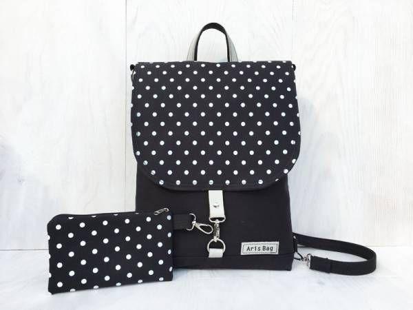 Handmade Vegan Backpack - Polka Dots Festival Design