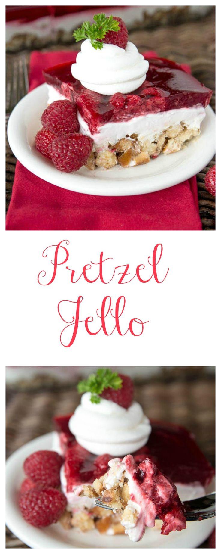 Healthy Pretzel Jello! You will have zero self-control around this healthy and creamy Pretzel Jello.