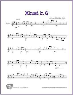 Minuet in G | Free Sheet Music for Classical Guitar (Scheduled via TrafficWonker.com)