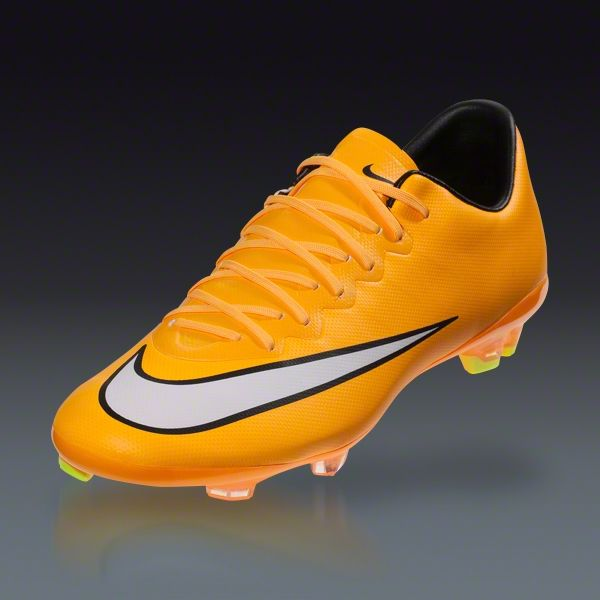 Nike Junior Mercurial Vapor X FG - Laser Orange/White/Black/Volt Firm  Ground Soccer Shoes