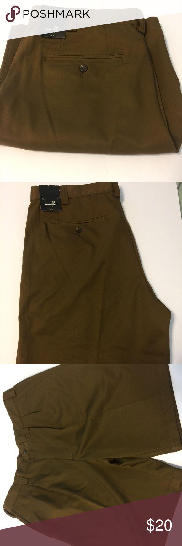 NWT Men's Ashworth Golf Shorts size W34 brown New with tags attached men's golf shorts. Size W34. Brown. Ashworth. Ashworth Shorts