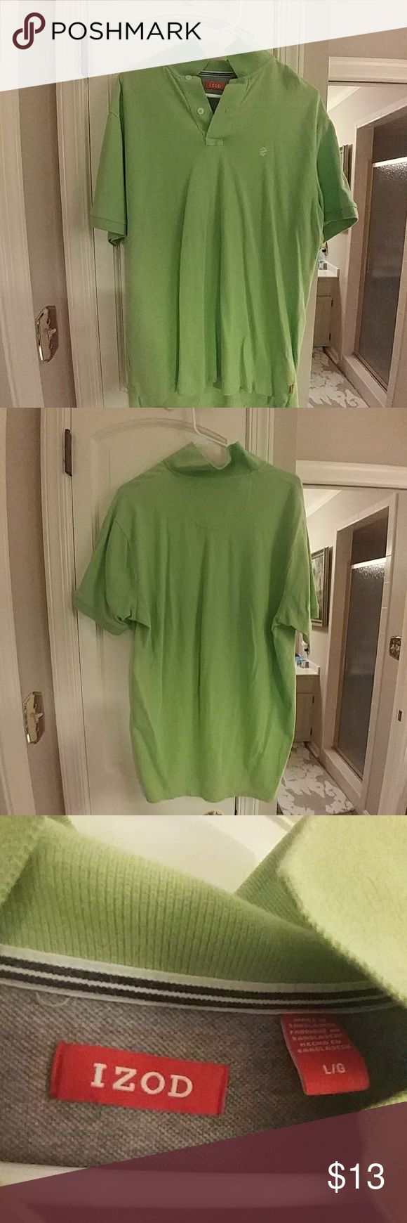Green Polo Shirt from IZOD Mens Large green polo shirt from IZOD. 2 button. Izod Shirts Polos