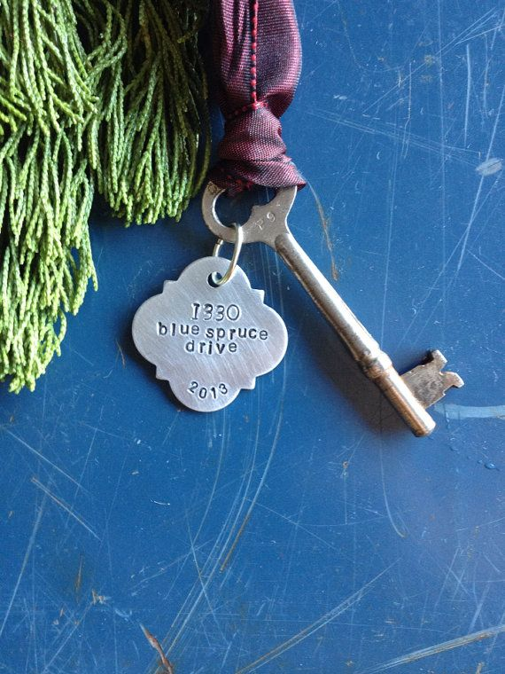 New Home Ornament - Commemorate the milestone of a new home with this elegant hand-stamped ornament.