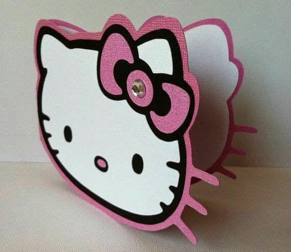 4 Tarjetas De Cumpleaños De Hello Kitty Para Niñas