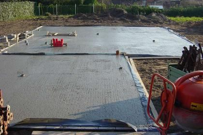 Zelf een betonplaat gieten | Bouwinfo