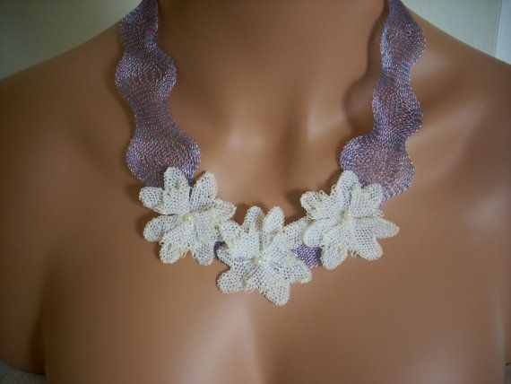 white needle lace summer jewelry wedding by AnatolianWedding, $45.00
