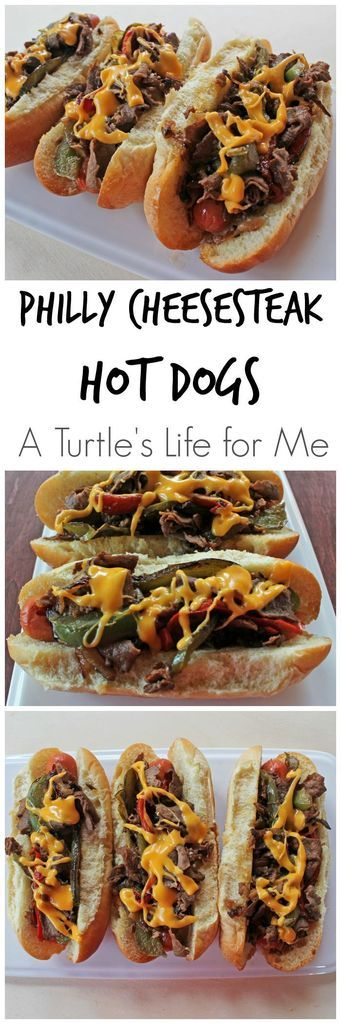 Philly Cheesesteak Hot Dogs - A Turtle's Life for Me