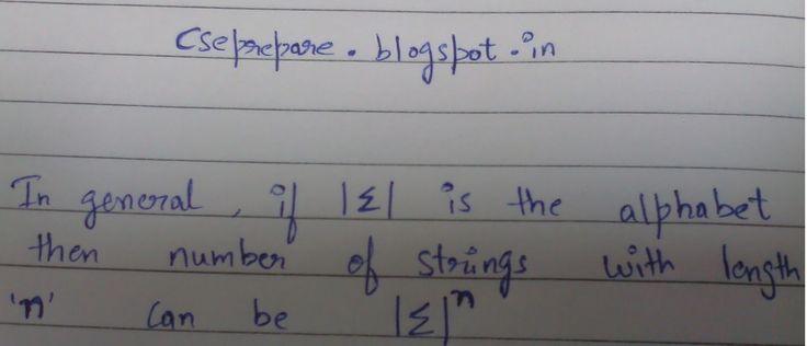 Gate for CSE: Theory Of Computation Basics