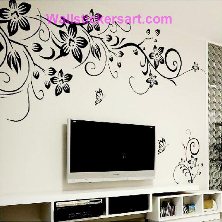 Hot DIY Wall Art Decal Decoration Fashion Romantic Flower Wall Sticker/ Wall Stickers Home Decor 3D