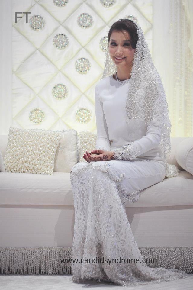Baju Nikah melayu wedding dress long sleeves scha alyahya malaysian