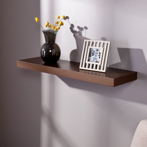 Southern Enterprises Chicago Chocolate 36 Inch Floating Shelf En7361 In 2020 Shelves Floating Shelves Floating Wall Shelves