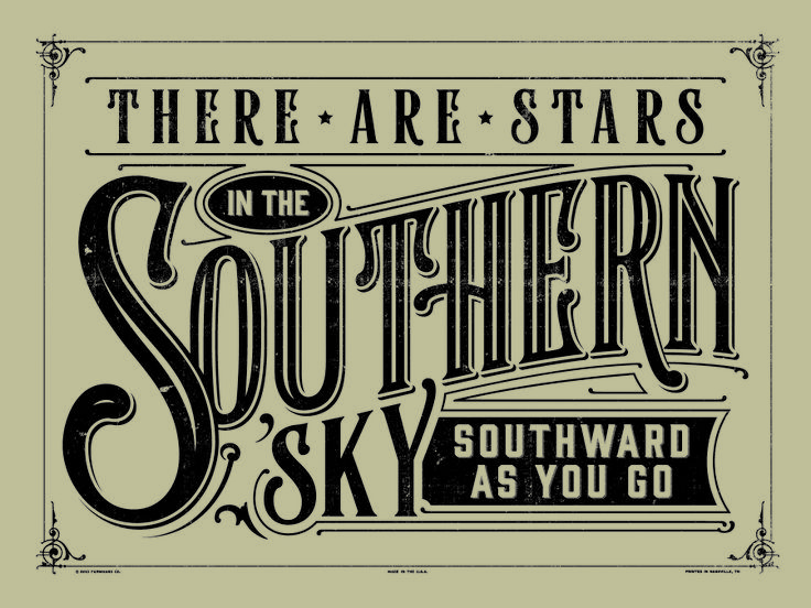 """type design using the lyric from """"seven bridges road"""" one of our all time favorite songs."""