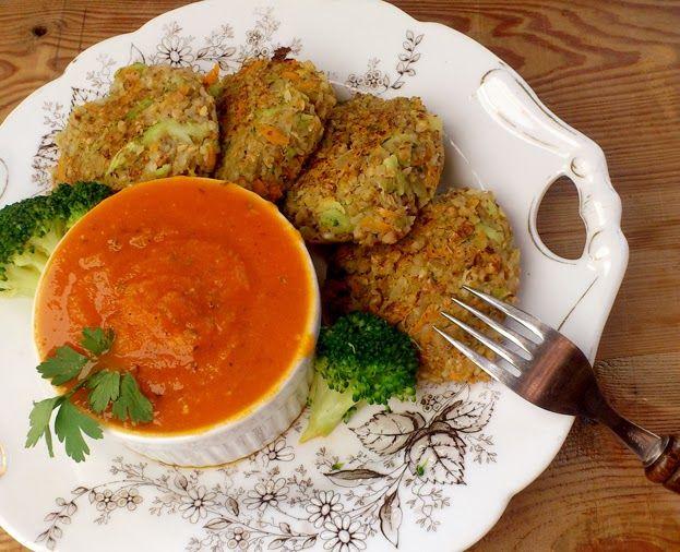 Kotleciki gryczano warzywne - wegetariański obiad   Zdrowe Przepisy Pauliny Styś
