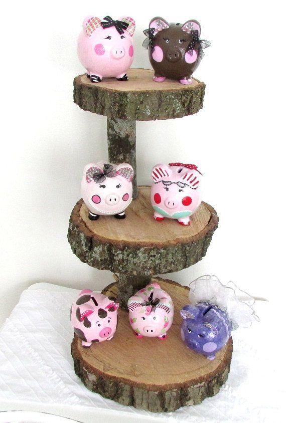 Customized Piggy Bank Painted Piggy Bank por MollieBurd en Etsy