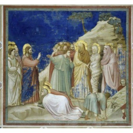 The Raising of Lazarus Giotto di Bondone (c1266-1337Italian) Fresco Arena Chapel Padua Italy Canvas Art - Giotto di Bondone (18 x 24)