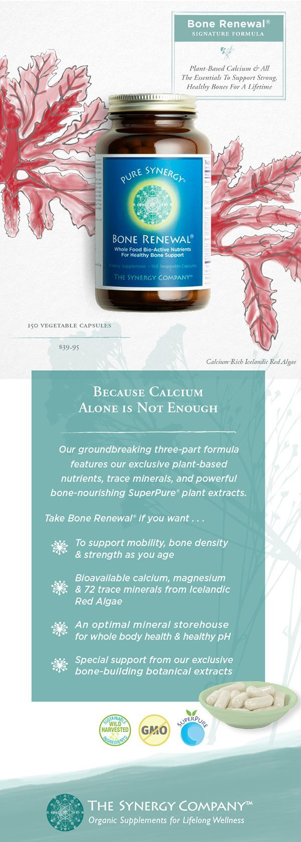 Bone Renewal is an unsurpassed, comprehensive solution for optimal bone health with plant-based bioavailable calcium, magnesium, vitamins D3 and much more. Shop now.