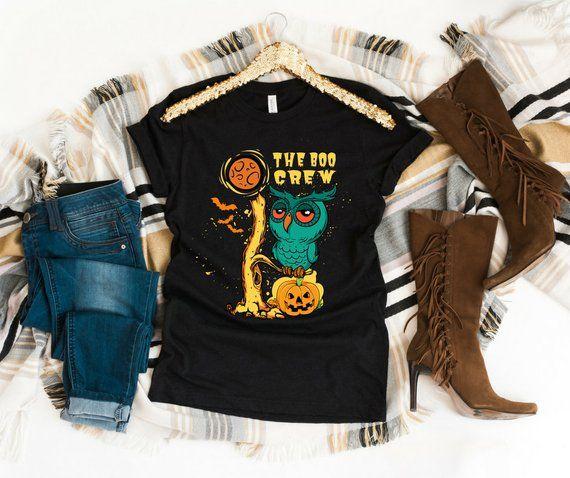 Halloween shirt The Boo Crew Short-Sleeve womens graphic Tee - halloween t shirt ideas