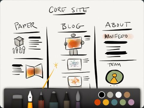 Paper, A Sketchbook App for iPad
