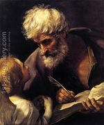 St Matthew and the Angel 1635-40  by Guido Reni
