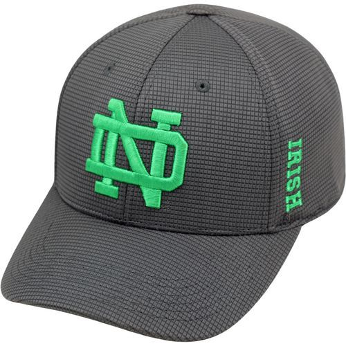 Top of the World Men's University of Notre Dame Booster Plus Cap (Charcoal, Size Flex Fit) - NCAA Licensed Product, NCAA Men's Caps at Academy Sports