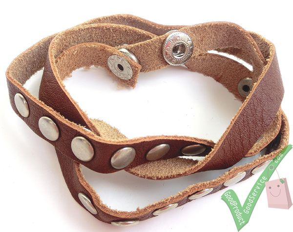 Leather Bracelet (Brown)  Dimensions: Length64 cm Width0.9 cm     http://www.ariomart.com/leather-products/unisex/accessories/leather-bracelet-brown.html