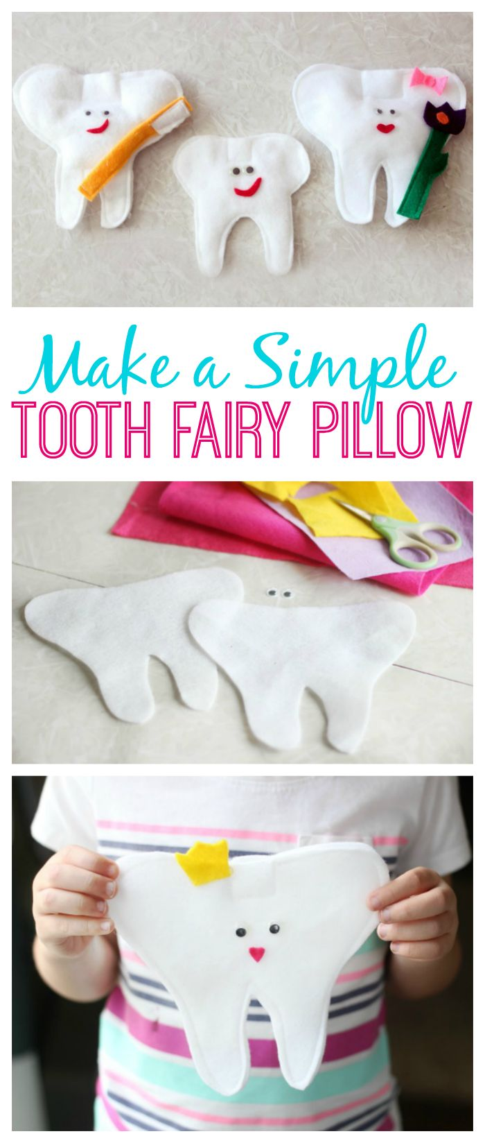 Simple Tooth Fairy Pillow Tutorial