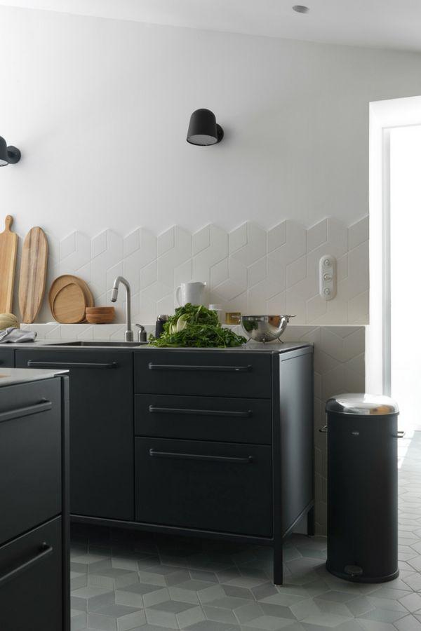 Ideen für deine neue schwarze Kochinsel Bilder von edlen, dunklen