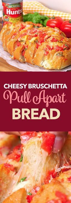 Cheesy Bruschetta Pull Apart Bread - Sponsored pin