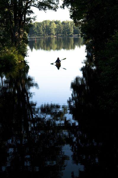 Early morning paddling