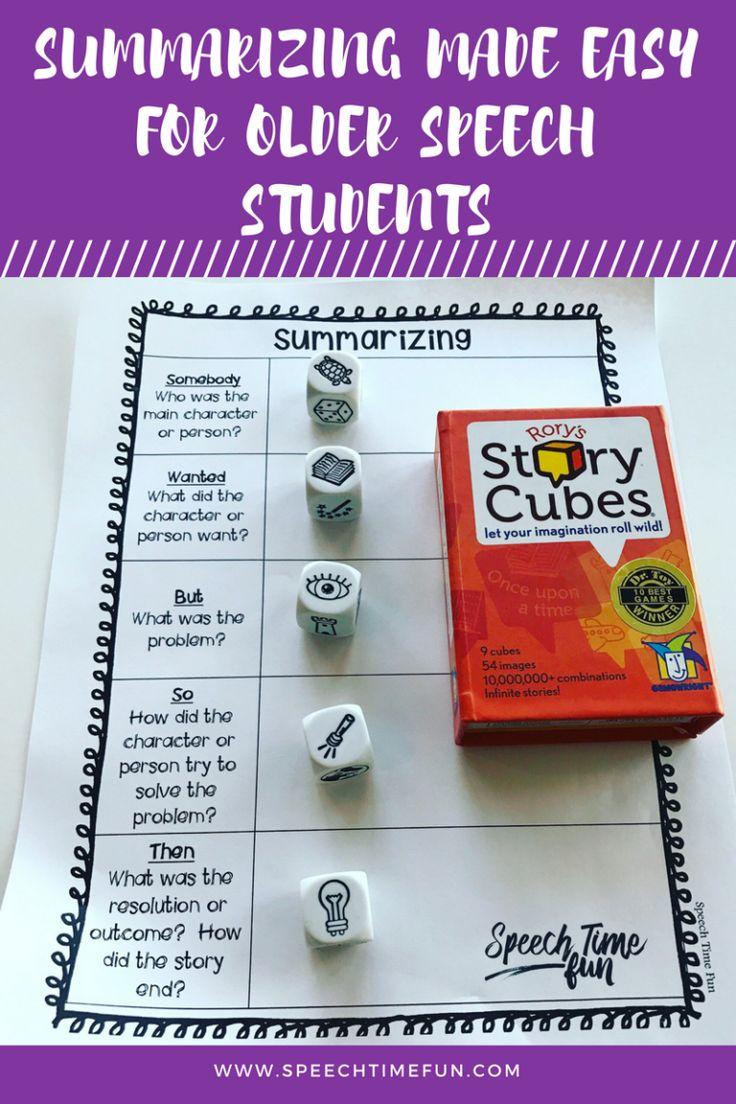 Summarizing Made Easy For Older Speech Students