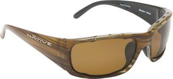 Native Bomber Sunglasses: Wood with Polarized Brown Lens