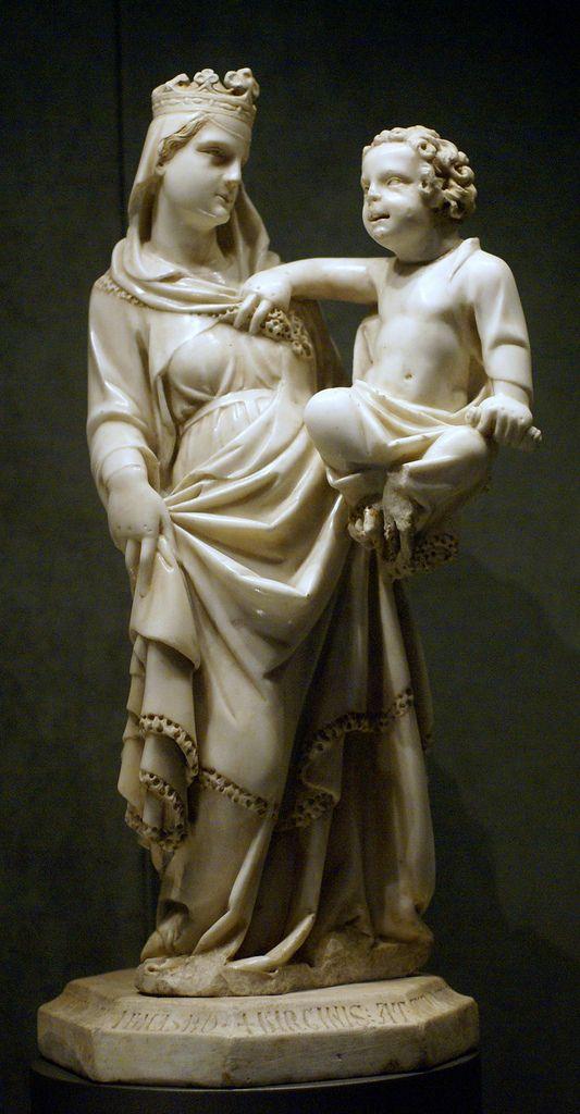 Torino, Palazzo Madama, Madonna mit dem Jesuskind, Tino di Camaino, 1315 (Virgin Mary with the Infant Jesus)