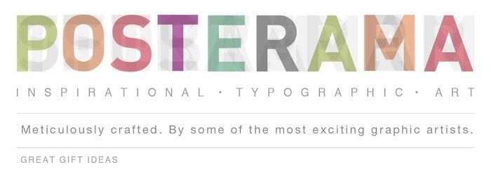 Inspirational Quotes / typographic Art www.posterama.co