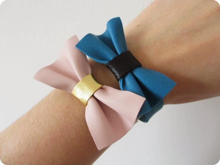 *Tadaam !: Bracelet noeud en cuir