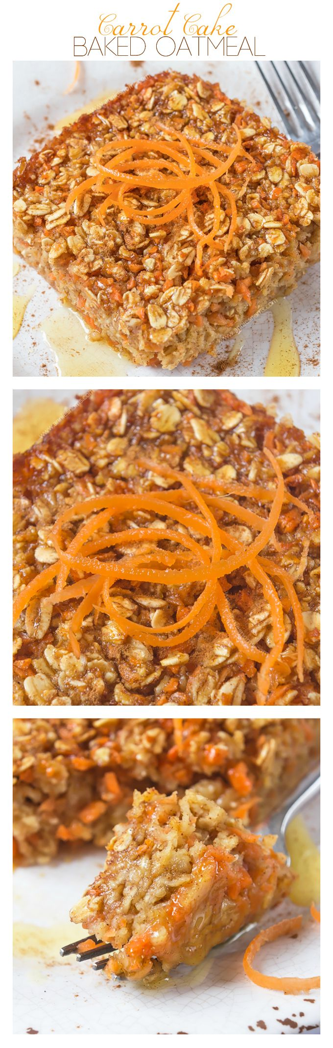 Carrot Cake Baked Oatmeal   Annie's Noms