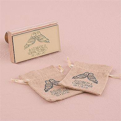 Woodland Style Owls Personalized Rubber Stamp
