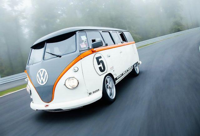 This VW Bus Has A Porsche 911 Engine Under The Hood