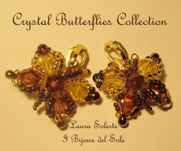 Earrings with light topaz and copper Swarovski crystals Sold. Disponibile su ordinazione - Available on request